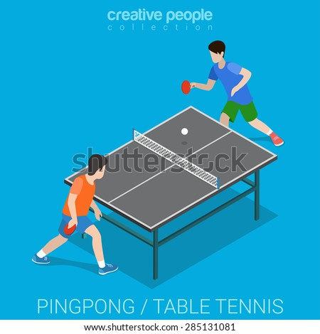 table tennis pingpong match