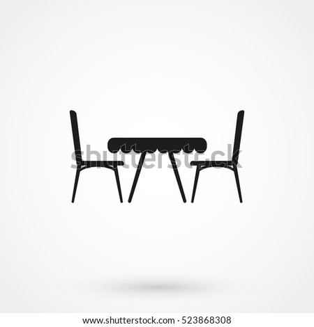 table with chairs icon isolated