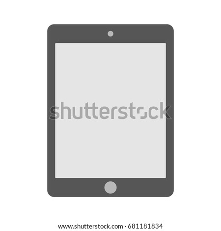 Tablet computer icon. Tablet flat style vector eps10.