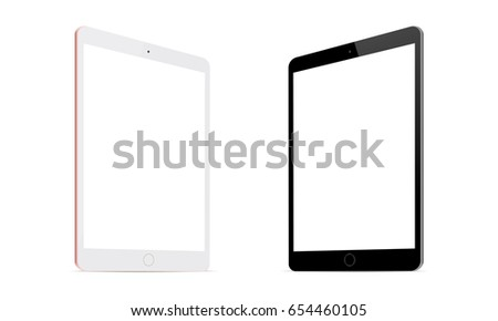 Tablet computer iPad mini screen mockup with perspective view to showcase your app designs and mobile UIs. Vector illustration