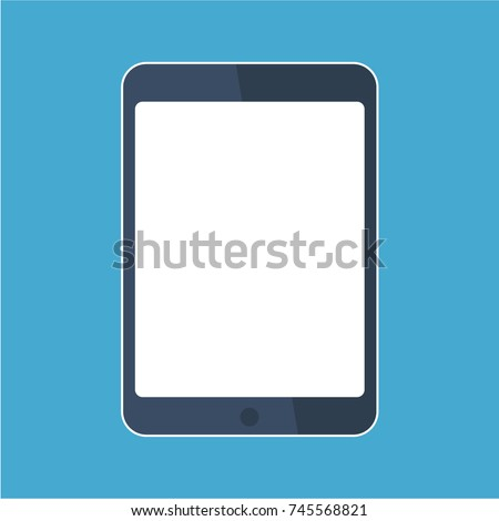Tablet flat icon in ipad style. Tablet Icon Vector. Tablet Icon Drawing.  Tablet Icon JPG.