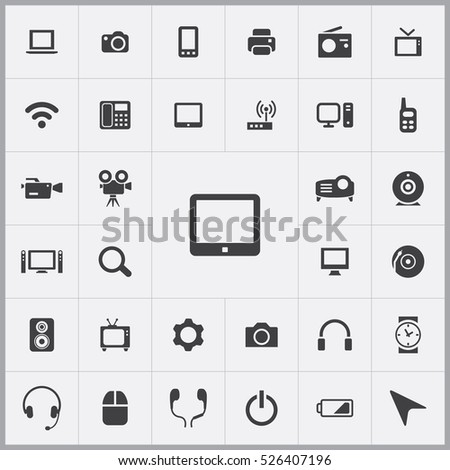 tablet icon. device icons universal set for web and mobile
