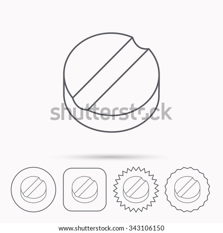 tablet icon medicine drug sign