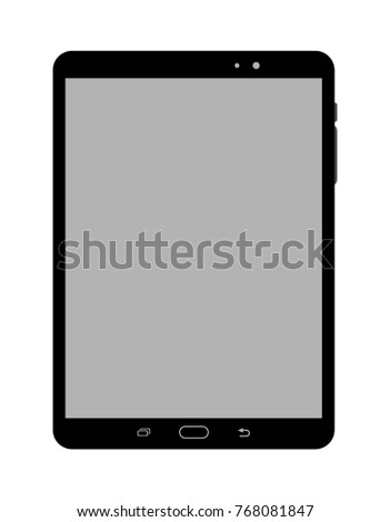 Tablet illustration, isolated vector