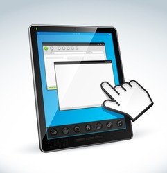 tablet pc and cursor