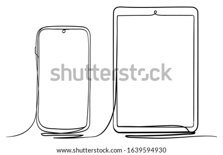 tablet pc and smart phone hand