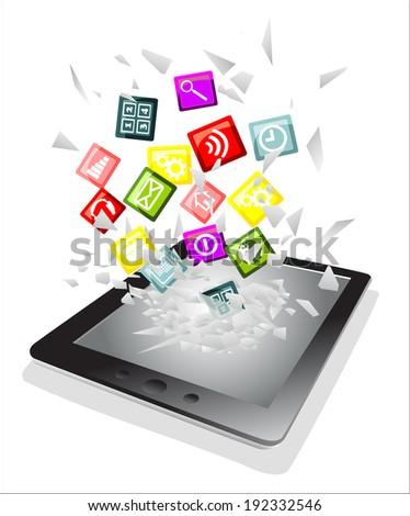tablet pc broken glass screen