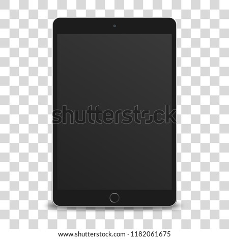 tablet pc computer with black