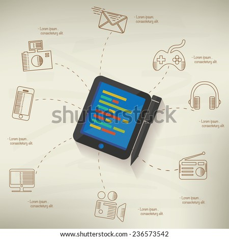 tablet pc design info graphic