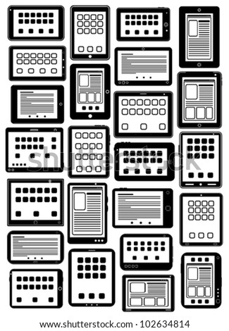 Tablet PC Icons in vectors