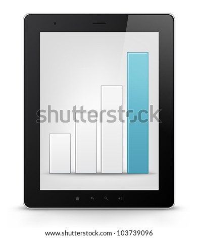 Tablet PC Isolated on White Background. Vector EPS 10.