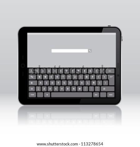 Tablet pc keyboard application