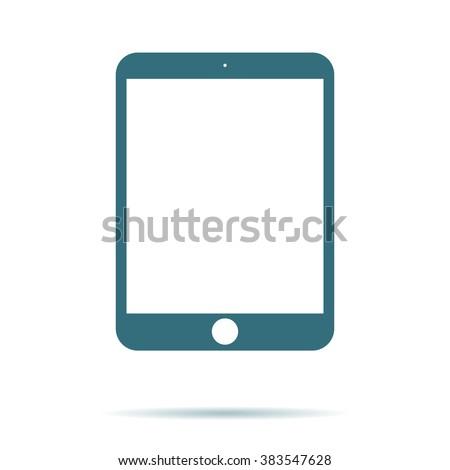 tablet screen icon vector