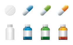 Tablets and capsules colored banks