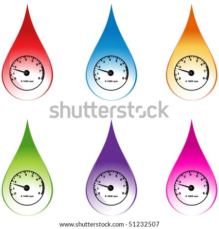 Tachometer - stock vector