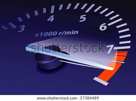tachometer on maximum level vector image