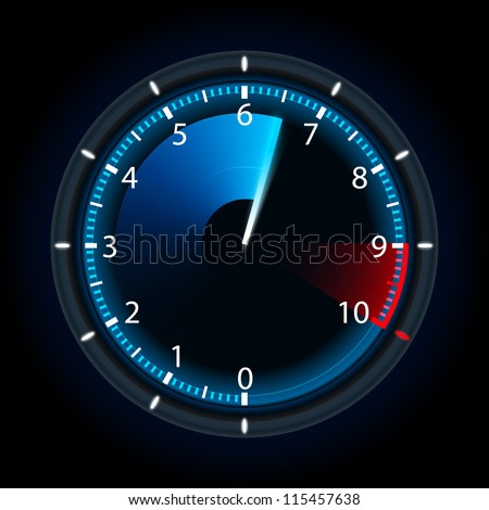 Tachometer. Vector illustration