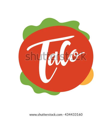 Vector Images, Illustrations and Cliparts: taco logo, Mexican food ...
