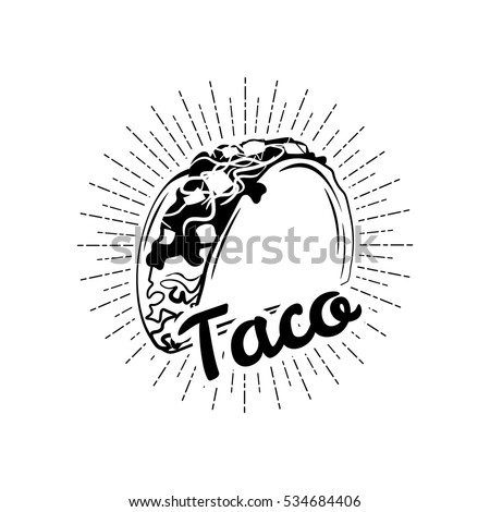 Taco. Mexico Food. Traditional Mexican Cuisine. An Isolated Object. Vector Illustration