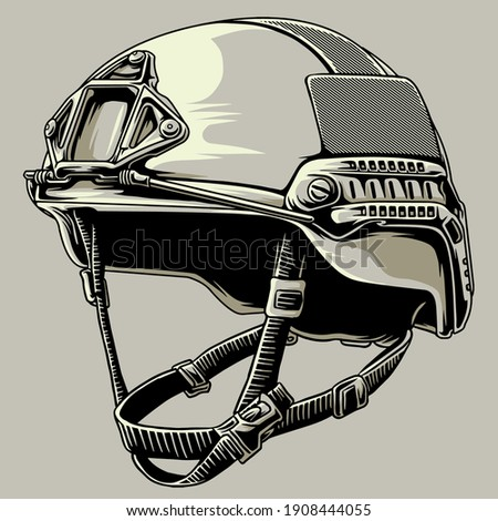 tactical army helmet in the