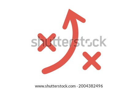 Tactics icon vector isolated on white background, Tactics sign, linear sport symbols Foto stock ©