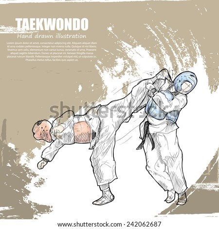 taekwondo background design