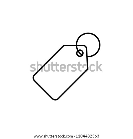 tag icon. Element of web icon for mobile concept and web apps. Thin line tag icon can be used for web and mobile. Premium icon on white background