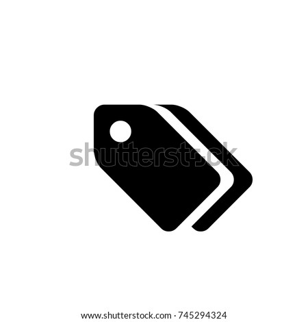 Tag Icon, Tag icon vector, in trendy flat style isolated on white background. Tag icon image, Tag icon illustration