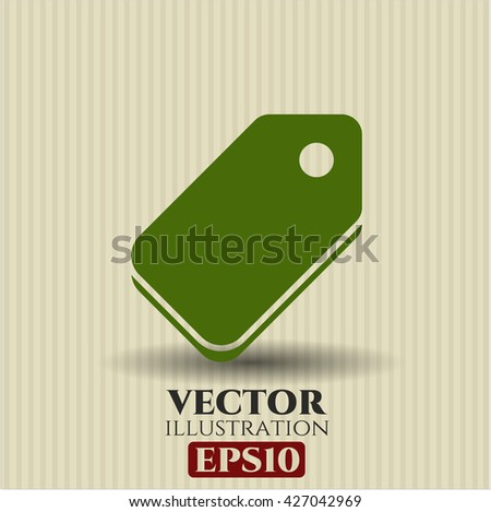 tag icon vector symbol flat eps jpg app web concept website