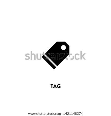 tag icon vector. tag sign on white background. tag icon for web and app