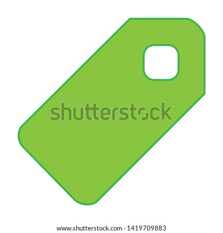 Tag label icon. flat illustration of Tag label vector icon for web