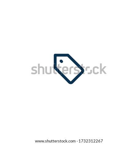 tag   pictograph   line icon