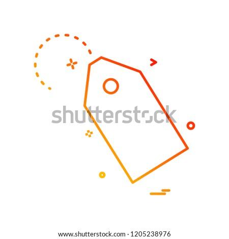 tag price label icon vector design