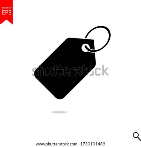 tag sale icon vector, tag