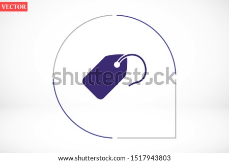 Tag vector icon. Tag icon for purchases and sales of goods. Tag icon on background. Tag, price icon label symbol