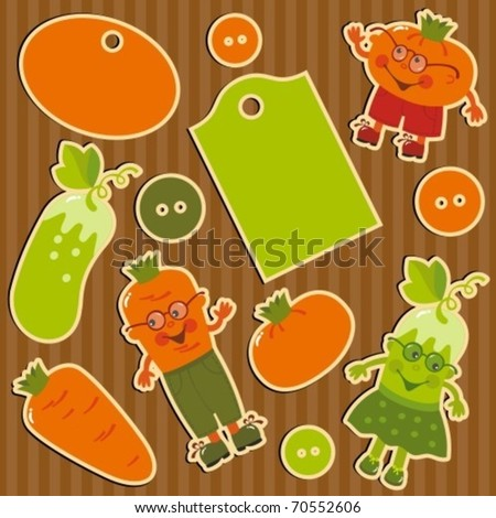 tags and vegetables