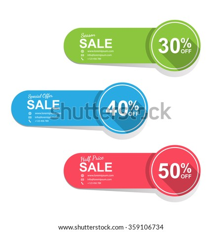 Tags for sale, Banner stickers. vector