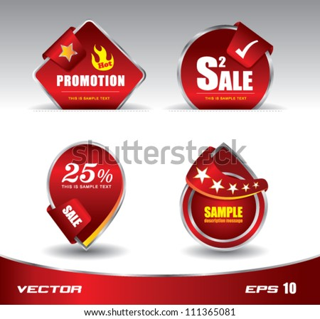 Tags promotion red modern, can use for sale festival, promotion, hightlight product.