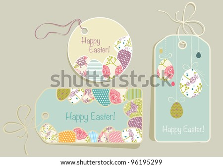 tags with Easter eggs