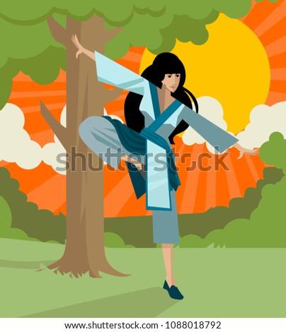 tai chi martial arts woman