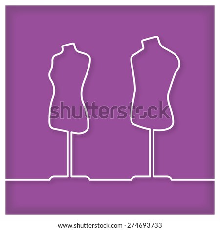 tailor's dummy icon vector
