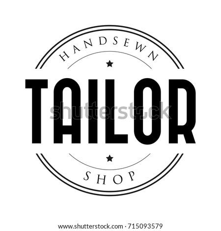 Tailor shop vintage stamp logo
