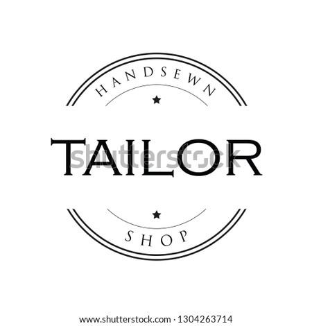 Tailor vintage sign logo vector