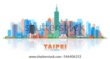 taipei   taiwan   skyline with
