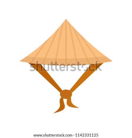Taiwan conic hat icon. Flat illustration of Taiwan conic hat vector icon for web isolated on white