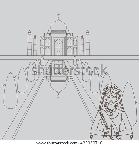 taj mahal temple landmark in