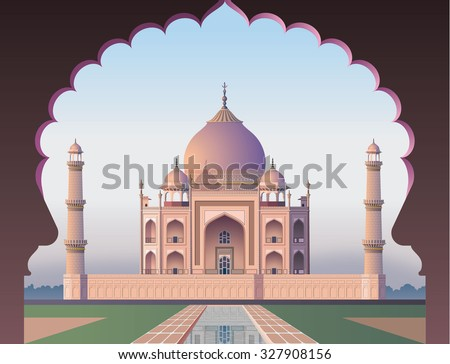 taj mahal through the window