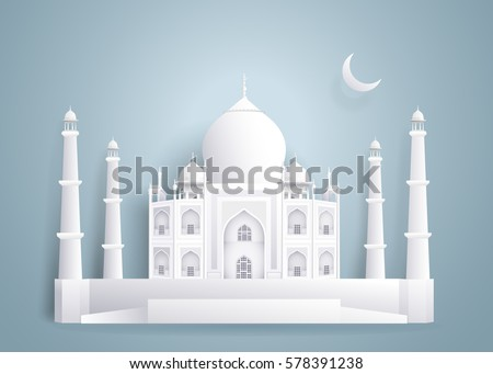tajmahal paper buildings on
