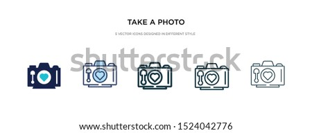 take a photo icon in different style vector illustration. two colored and black take a photo vector icons designed in filled, outline, line and stroke style can be used for web, mobile, ui