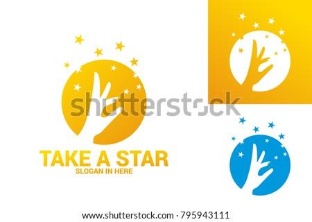 take a star logo template